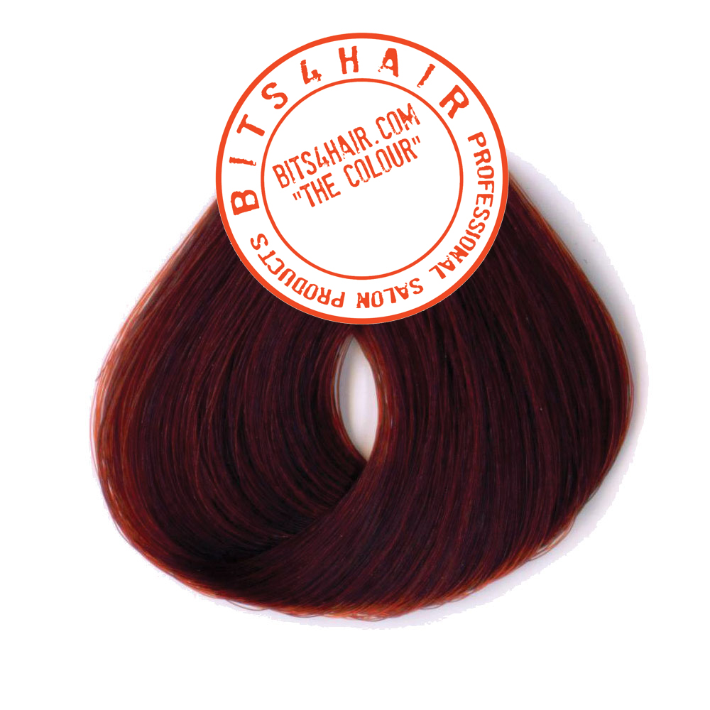 "(Colour: 55.66) BITS4HAIR ""THE COLOUR"" Permanent Colour/Color: Light Intense Red Brown.  Code: 55.66"