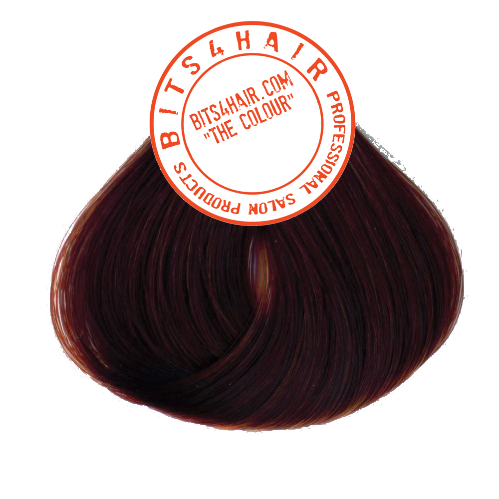 "(Colour: 6.45) BITS4HAIR ""THE COLOUR"" Permanent Colour/Color: Dark Copper Mahogany Blonde.  Code: 6.45"